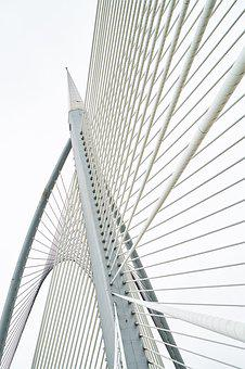 Bridge, Contemporary, Steel, Daniel, White