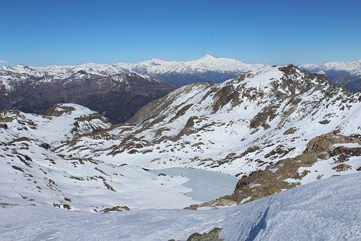 Mountain, Andes, Cordillera, Snow, Cold, Winter