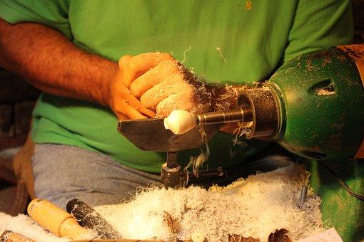 Work, Tagua, Drill, Hands, Art, Craft, Handwork