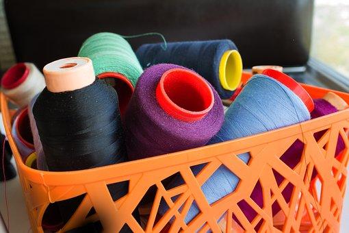 Thread, Yarn, Roll, Basket, Needlework, Background