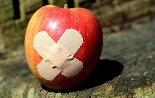 Apple, Patch, Food, Get Well Soon, Association, Healing