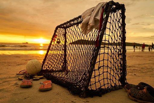 Castle, Football, Beach, Landscape, Nature, Peace, Sky
