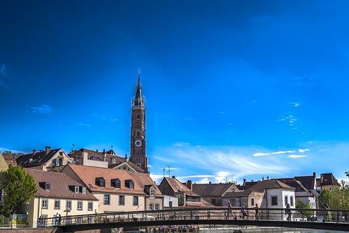 Landshut, Brick Church, Steeple, Brick, Brick Kirchtum