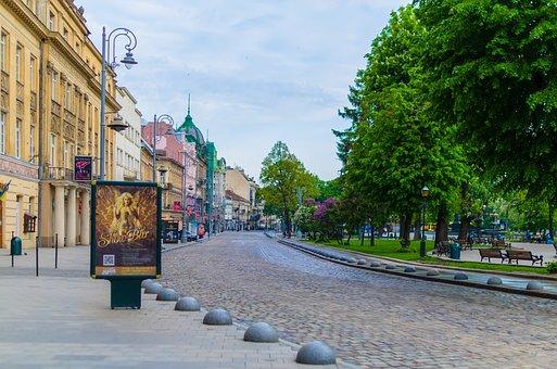 Lviv, Ukraine, Center, Area, Town Hall, Statue, Leo