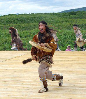 National Dances, Koryak, Shaman, Tambourine, Clapper