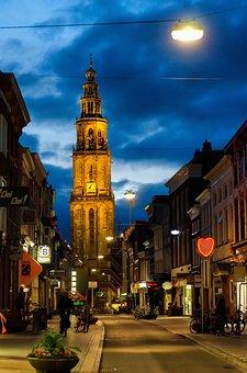 Martini, Oosterstraat, Groningen, Evening, City