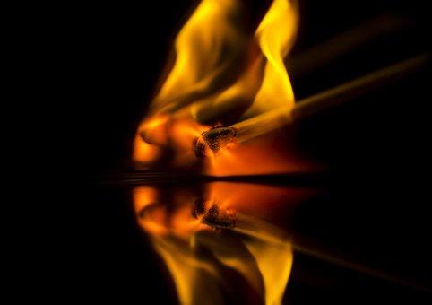 Fire, Match, Kindle, Burn, Flame, Sulfur, Match Head