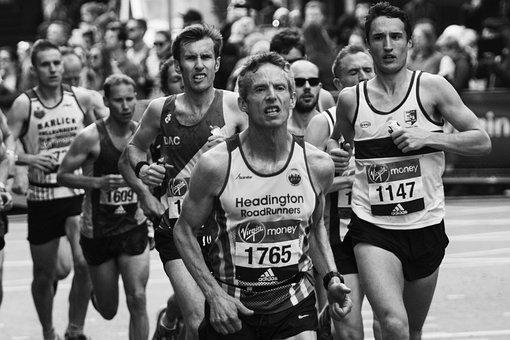 London Marathon, Determination, Focus, Runners