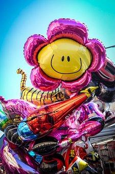Year Market, Balloon, Folk Festival, Ballons, Colorful