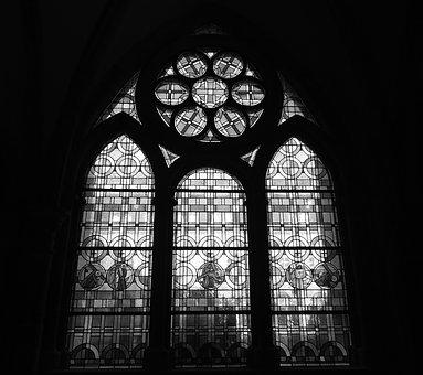 Glass Window, Trier Cathedral, Cloister, Dom, Trier
