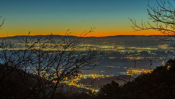 Landscape, Dawn, Italy, Nocturne