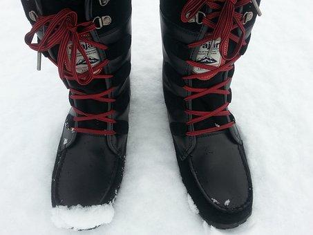 Snow, Boots, Feet, Legs, Cold, Season, Footwear