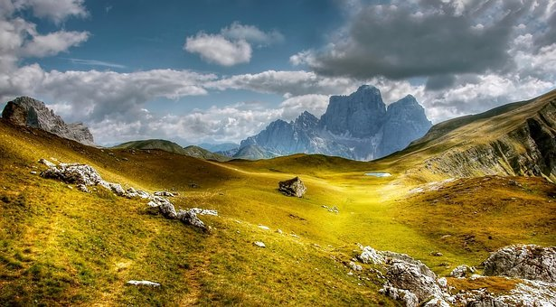 Dolomites, Mountains, Monte Pelmo, Italy, View, Alpine