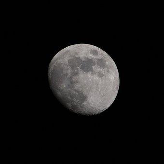 Month, Luna, Night, Dorastanie, Imperfection