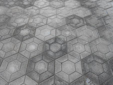 Floor, Gray, Cement, Polyhedron, Mason, Passage, Path