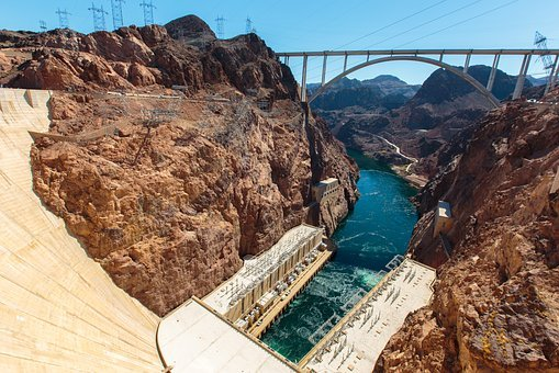 Hoover Dam, River, Southwest, Electricity, America
