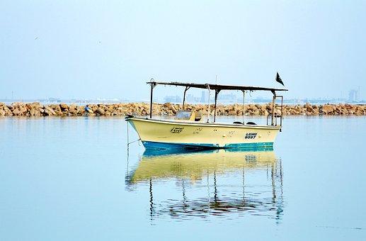 Beach, Board, Reflection, Water, Sea, Nature, Fun
