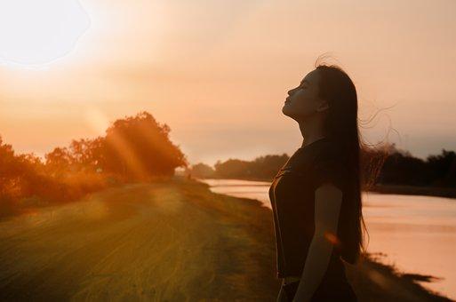 Girl, Reverse Sun, Sad, Feel, Sunset, Dawn, Sightseeing