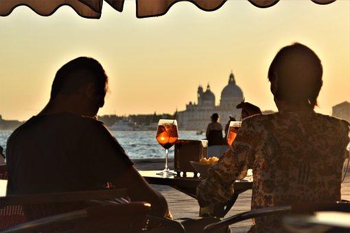 Venice, Sunset, Sundowner, Spritz, Aperol, Travel