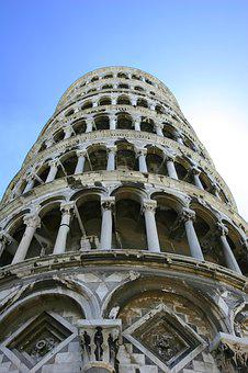 Piza, Italy, Pisa, Europe, Italian, Tower, Landmark