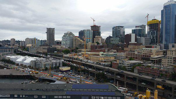 Seattle, Downtown, City, Urban, Architecture, Skyline