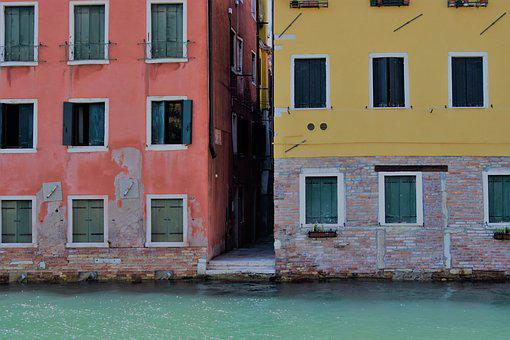 Houses, Colours, Colorful, Venice, Canal, Home