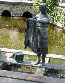 Figure, Statue, Monument, Wash, Sculpture, Laundry
