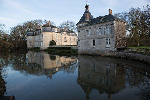 Castle Of Malicorne, Sarthe, Water Plan
