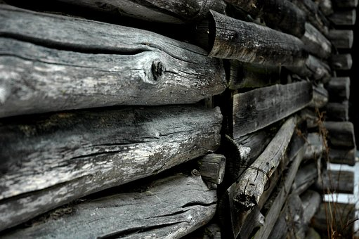 Log, A Log Wall, Texture, Hirsilato, Barn, Closed