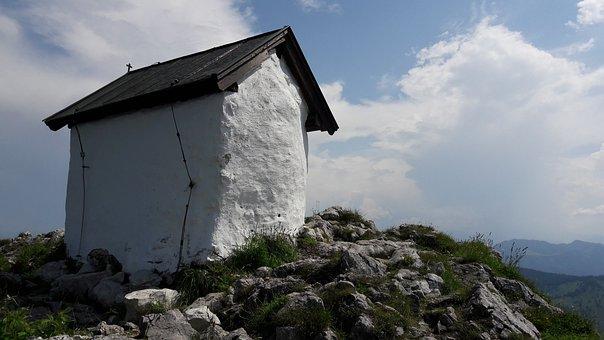 Brünnstein, Mountain, Chapel, Alpine, Nature