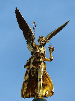 Angel Of Peace, Munich, City, Monument, Angel