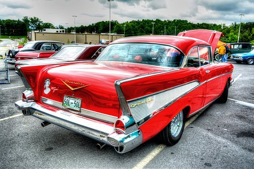 Chevy, Bel Air, Antique Car, Antique, Automobile, Car