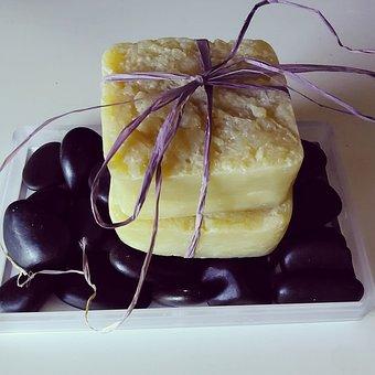 Soap, Bar, Natural, Organic, Yellow, White, Black