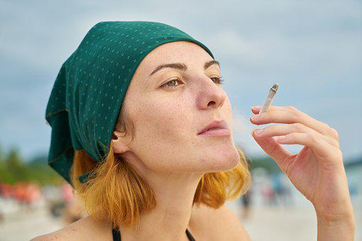 Woman, Cigarette, Beautiful, Beach, Harmful, Coastline