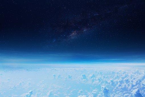 Clouds, Space, Milky Way, Atmosphere, Flying, Blue