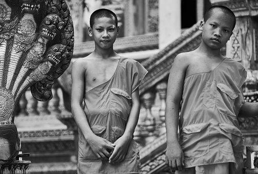 Male, Child, Religion, Faith, Boy, Buddhist, Cambodia