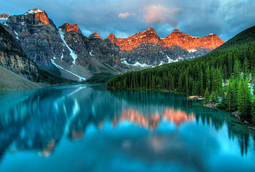 Alberta, Canada, Lake, Mountains, Banff, Beautiful