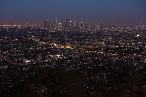 Los Angeles, La, City, Los, Angeles, Skyline, Downtown