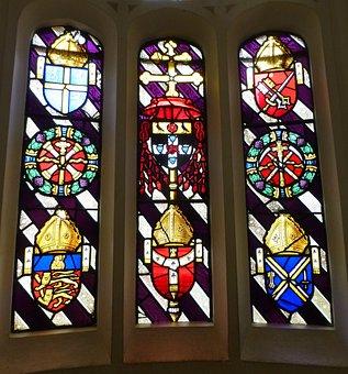 Stained Glass, Hampton Court, Glass, Window, Decorative