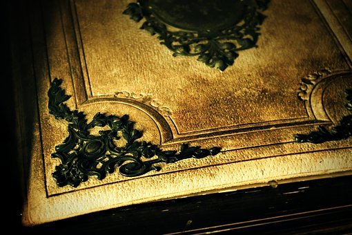 Old Book, Book, Ornament, Decoration, Last Century