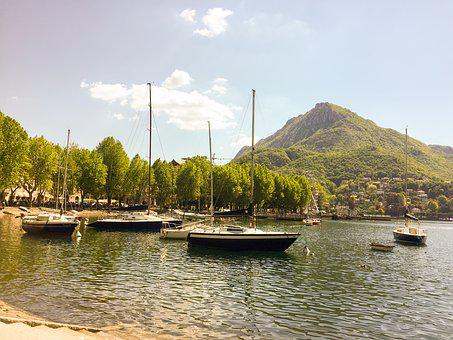 Lecco, Como, Italy, Port, Water, Little Boat, Boat