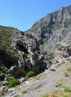 Crete, Gorge, Kourtaliotiko Gorge, Rock, Mountains