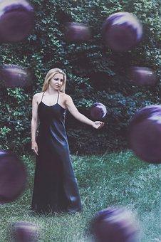 Girl, Dance, Female, Woman, Nature, Purple, Color