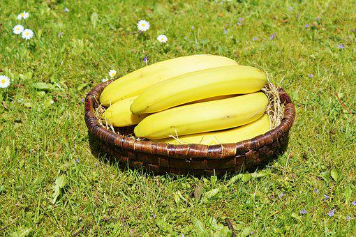 Bananas, Fruits, Fruit, Food, Yellow, Healthy, Nature