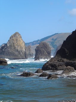 Oregon Coast, Ocean, Cannon Beach, Rocks, Coastline