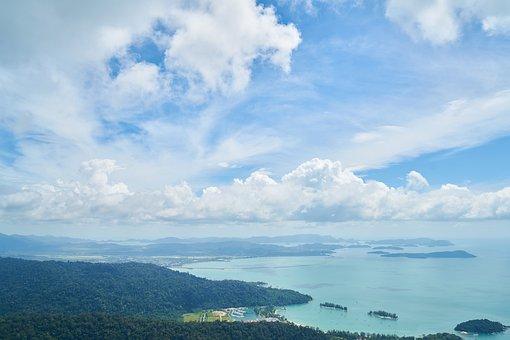 Mountains, Marine, Ocean, Landscape, Sky, Blue, Nature