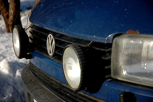 Volkswagen, Wolkkari, Blue Car, Car, Van, Old, Rusty