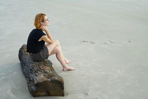 Woman, Beautiful, Model, Beach, Only, Portrait, Human