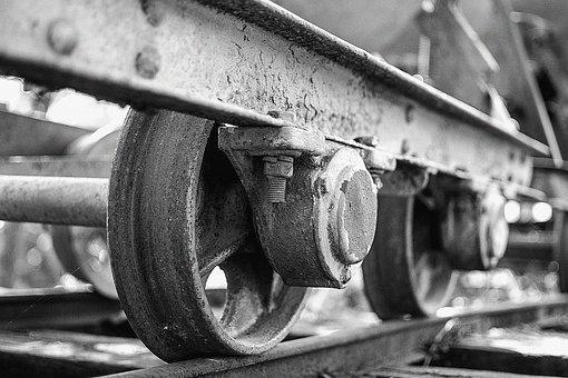 Wagon, Rail, Wheel, Iron