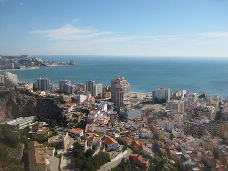 Cullera, Beach, City, Landscape, Water, Sky, Costa, Sea